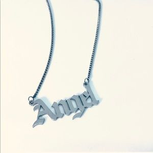 Angel Old English Statement Necklace
